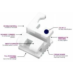 Zamki Ceramiczne  Roth/MBT 022 dół (5-5) w/hook 3