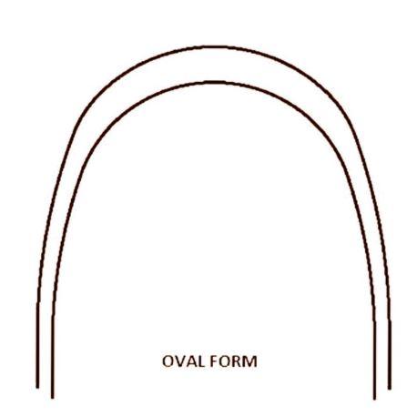 Łuk stalowy 16x16 dół Oval Form