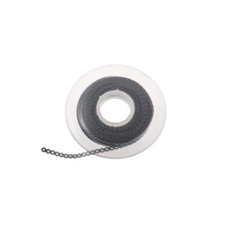 Łańcuszek elastomerowy srebrny bez przerwy