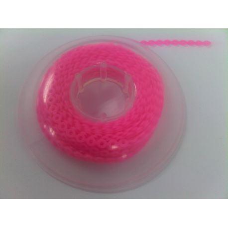 Łańcuszek elastomerowy ostry róż bez przerwy