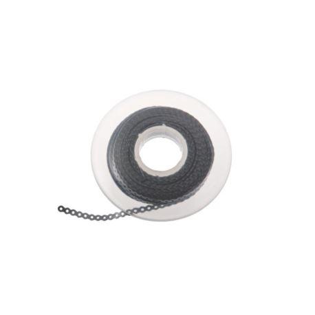 Łańcuszek elastomerowy srebrny z krótką przerwą