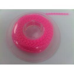Łańcuszek elastomerowy ostry róż krótka przerwa
