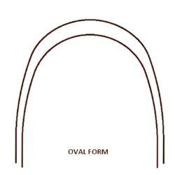 Łuk termoaktywny NiTi 12 góra  Oval Form
